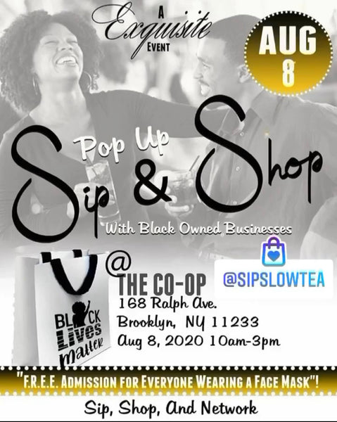 Sip & Shop Pop Up Shop Saturday August 8th