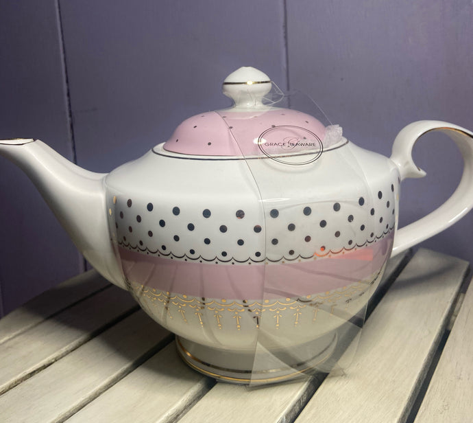 Grace Teaware Pin Dot Teapot