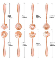 Load image into Gallery viewer, Rose Gold Flower Teaspoon