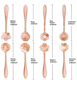 Rose Gold Flower Teaspoon