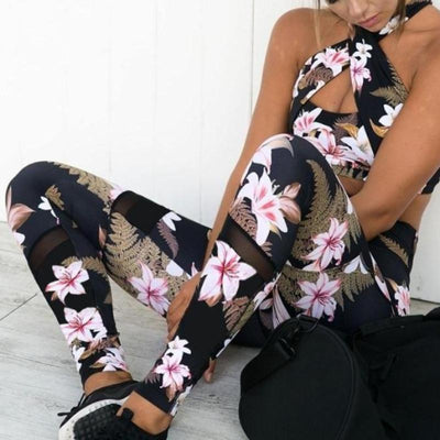 2 Pcs Floral Fitness Set