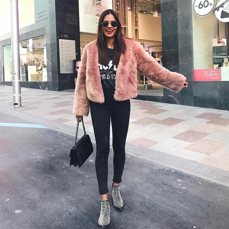 CHARLOTTE Faux Fur Jacket