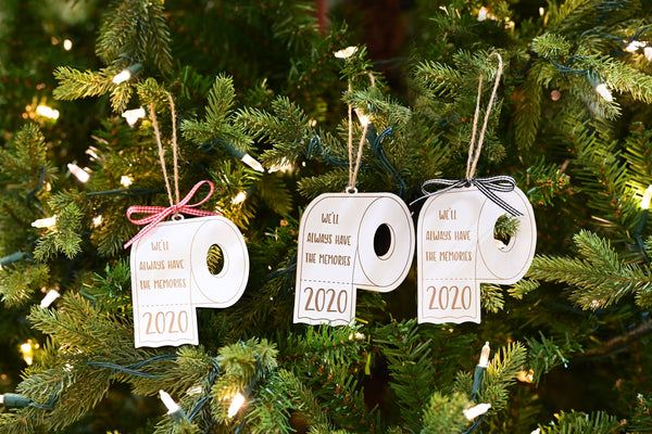 Funny Christmas Ornaments, 2020 Toilet Paper, Wooden Ornaments Laser Engraved