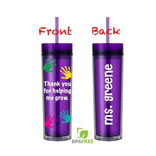 Thank You Teacher Skinny Tumbler