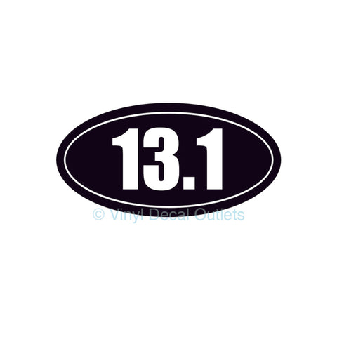 13.1 Car Decal - Half Marathon Sticker