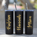 Personalized Tumbler with Straw, 21st Birthday Gift for Best Friend, Stainless Steel Water Bottle, Custom Tumblers,