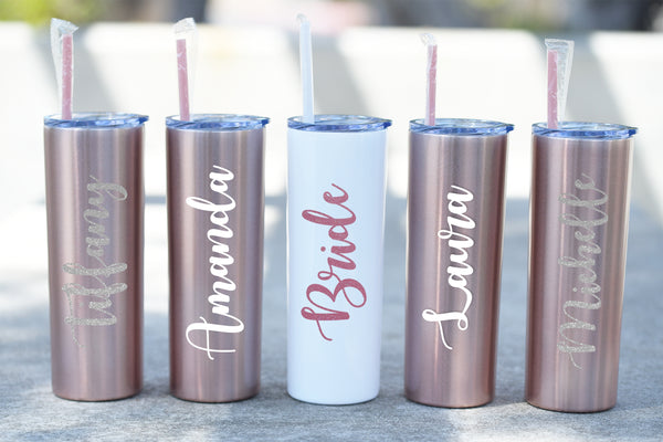 Personalized Skinny Steel Tumbler