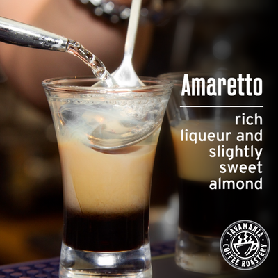 Amaretto rich liqueur and slightly sweet almond