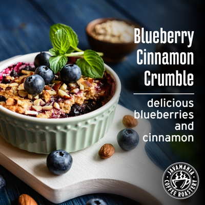 Blueberry Cinnamon Crumble delicious blueberries and cinnamon