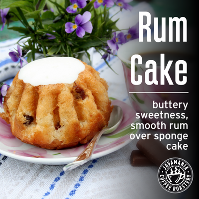 Rum Cake buttery sweetness smooth rum over sponge cake