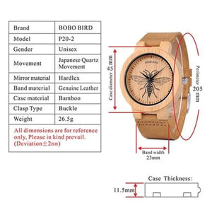 Animals Bamboo Dragonfly Fashion Men P20-2