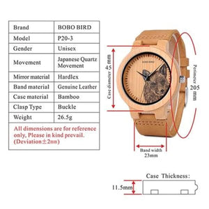 Animals Bamboo Dragonfly Fashion Men P20-3