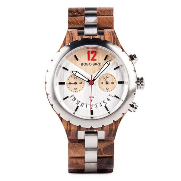 Brand Elegant Luxury Mens Metal Zebrawood 43mm