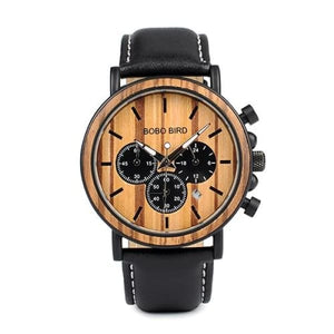Men Military Quartz Timepieces Watches Leather Band