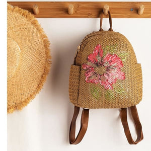 Backpack Bags Female Floral Flower