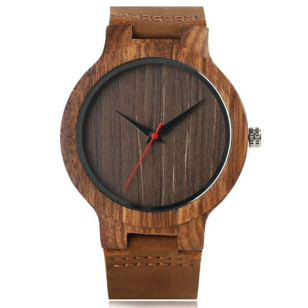 2019 Bamboo BlackCoffeeGreen Clock de Coffee Dial