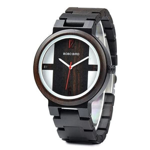 Box Design Gift in Luxury Black Wood Watch