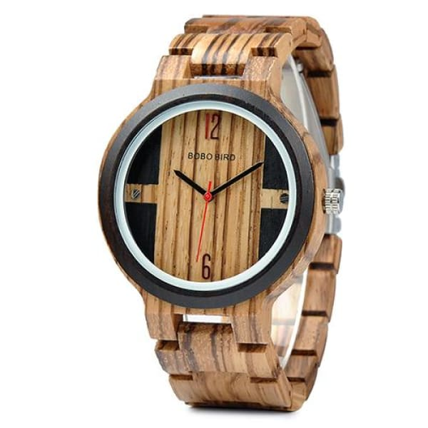 Box Design Gift in Luxury Zebra Wood Watch