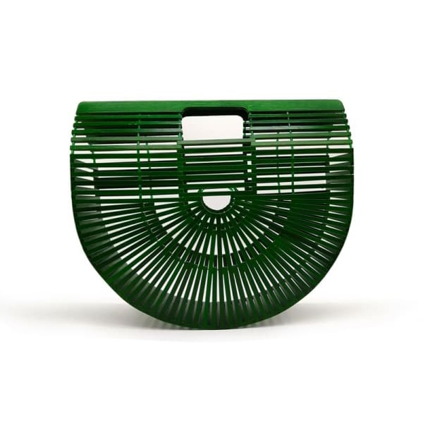 And Bags Bamboo Beach Designer green small