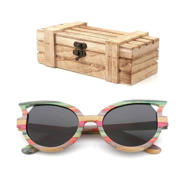 and bamboo box cat color 02 wood box-366