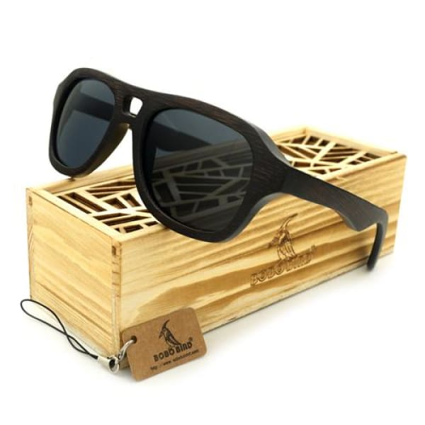 100% Bamboo Box Eyewear Gift Gray