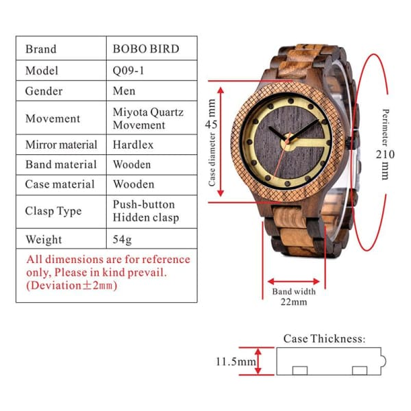 Box Design Dial in Men