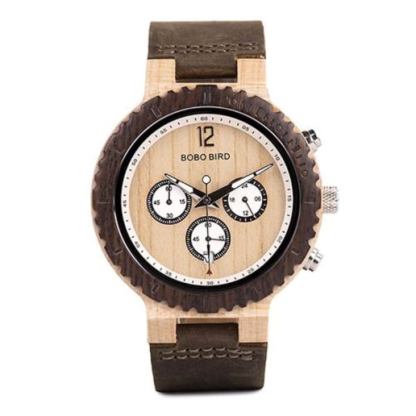 Chronograph for Gift Great Luxury R08-2 Leather Band