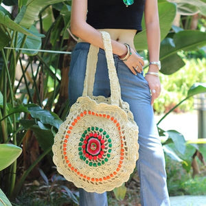 Handbag Rattan Round Straw Unique