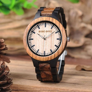Ladies Quartz Strap Watches Wooden