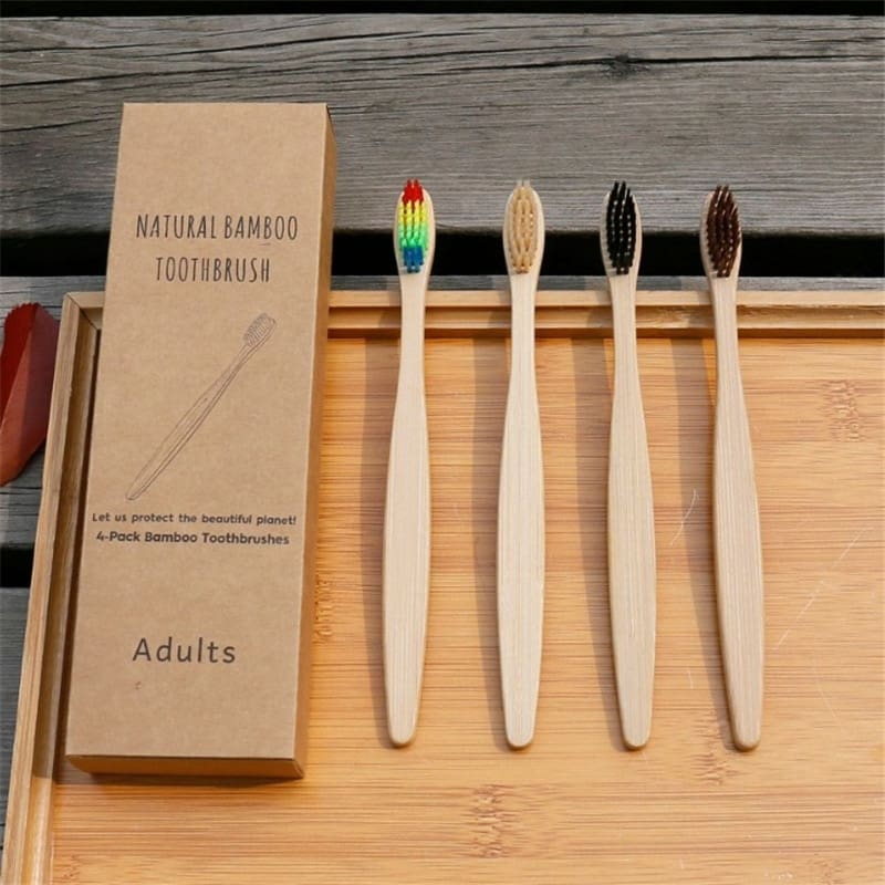 Biodegradable Toothbrush with Charcoal Bristle Toothbrush