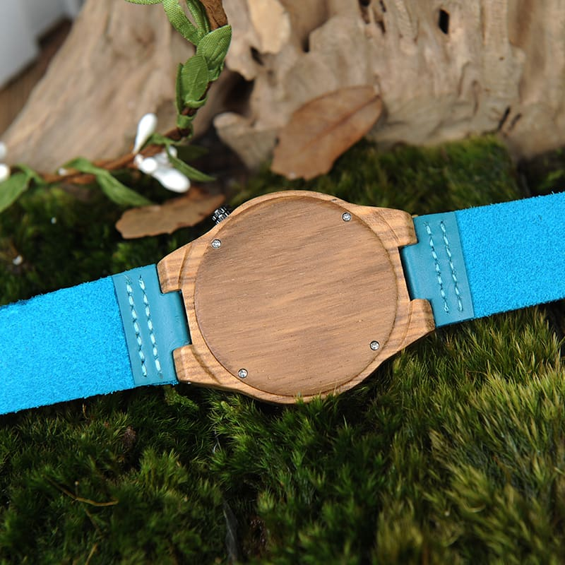 Wood Watches Women Top luxury Brand Design bamboo Wooden Wristwatches for Ladies With Leather Bands in gift box