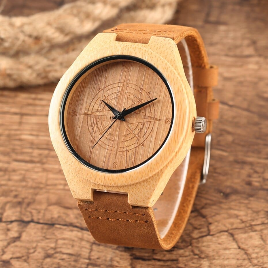 Wooden Watches Male Bamboo Wood Watch For Men Women Engrave Scale Quartz Genuine Leather Clock Male Luxury Man Wood Wristwatch 2020 2019 (7)