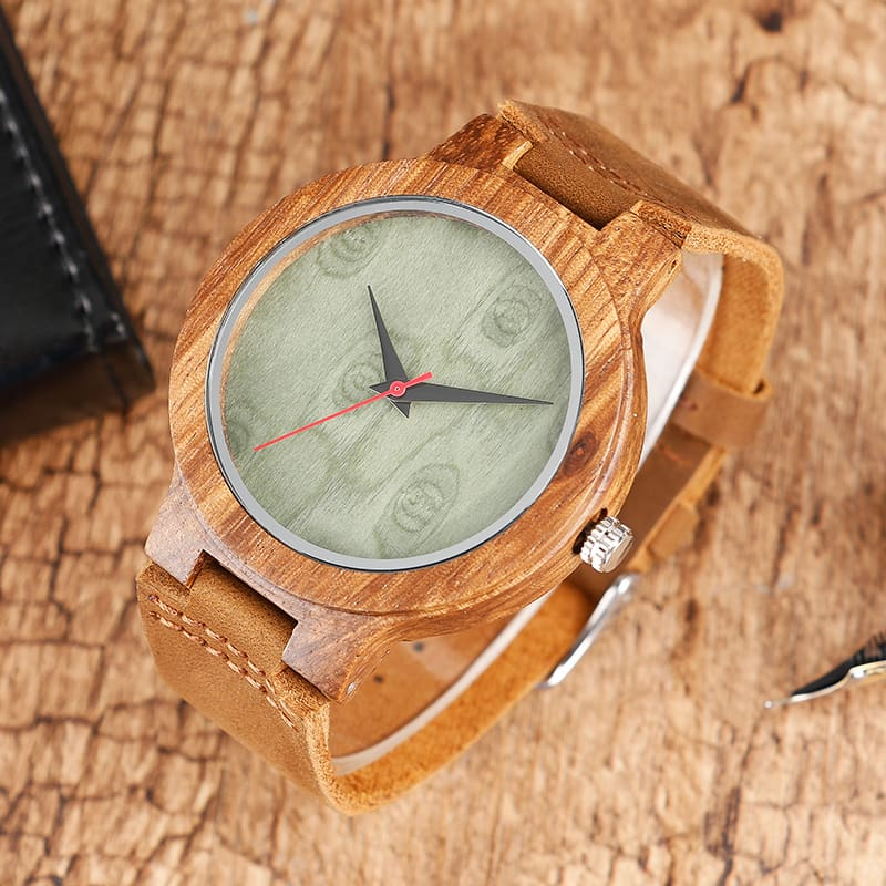 Top Gift BlackCoffeeGreen Dial Natural Bamboo Wood Watch Men Women Genuine Leather 2017 Wooden Clock Male hour Reloj de madera 2017 Christmas Gifts (32)