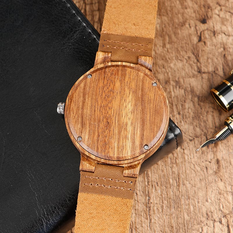 Top Gift BlackCoffeeGreen Dial Natural Bamboo Wood Watch Men Women Genuine Leather 2017 Wooden Clock Male hour Reloj de madera 2017 Christmas Gifts (36)