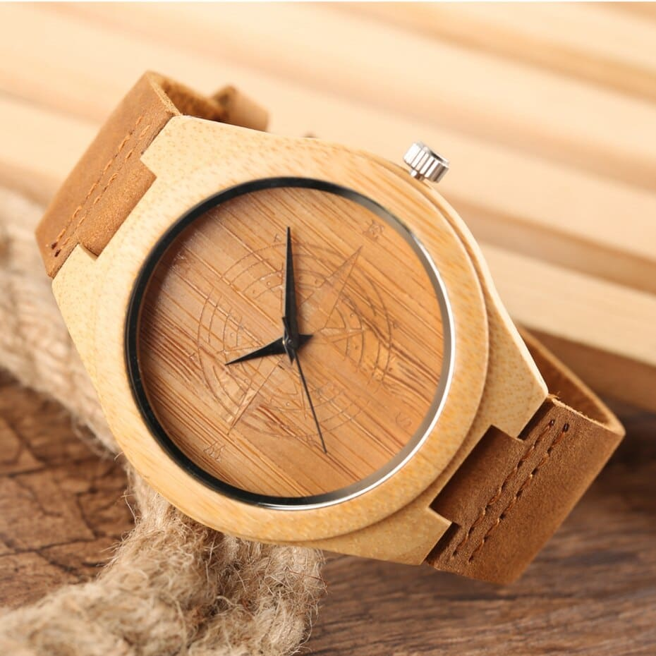 Wooden Watches Male Bamboo Wood Watch For Men Women Engrave Scale Quartz Genuine Leather Clock Male Luxury Man Wood Wristwatch 2020 2019 (8)