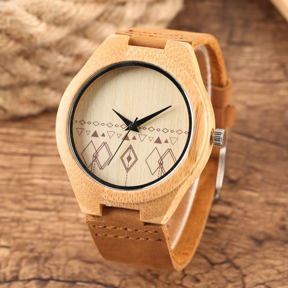 Wooden Watches Male Bamboo Wood Watch For Men Women Engrave Scale Quartz Genuine Leather Clock Male Luxury Man Wood Wristwatch 2020 2019 (17)