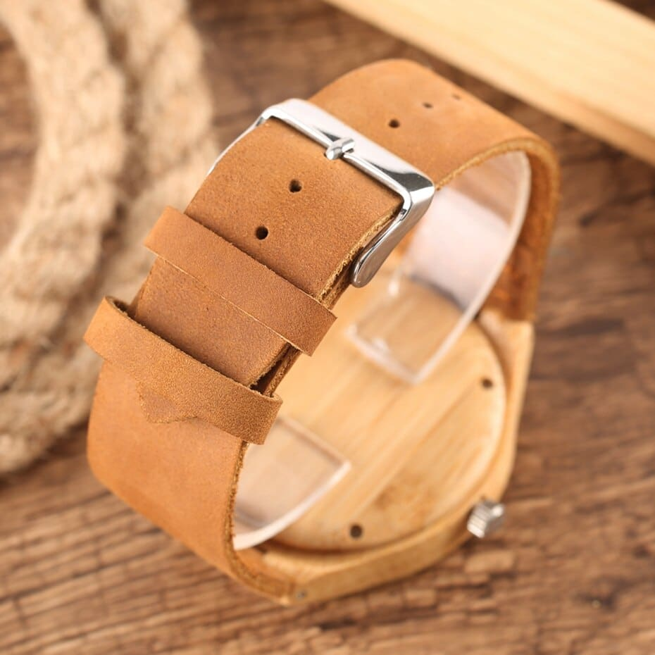 Wooden Watches Male Bamboo Wood Watch For Men Women Engrave Scale Quartz Genuine Leather Clock Male Luxury Man Wood Wristwatch 2020 2019 (29)