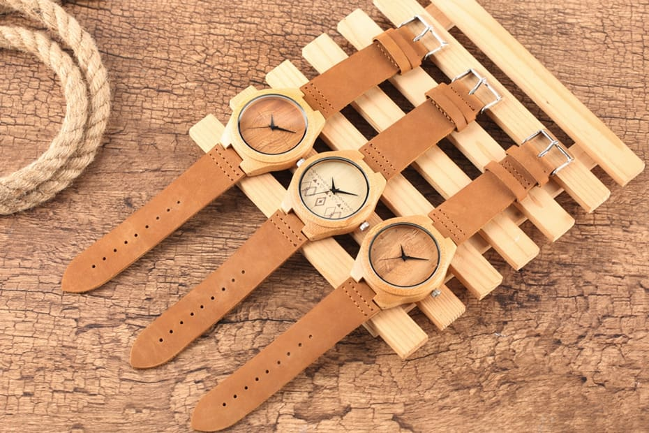 Wooden Watches Male Bamboo Wood Watch For Men Women Engrave Scale Quartz Genuine Leather Clock Male Luxury Man Wood Wristwatch 2020 2019 (3)