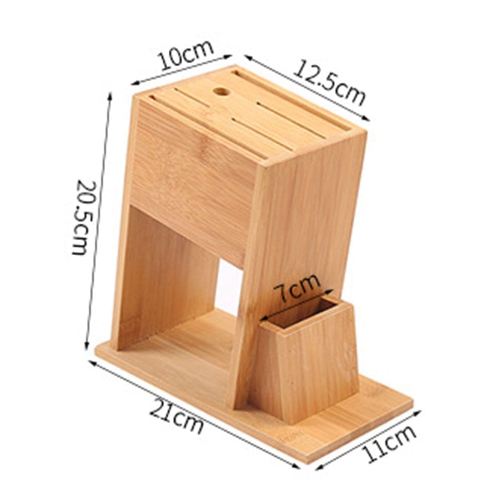 knife block Bamboo Holder Cutlery Storage (Tool holder)