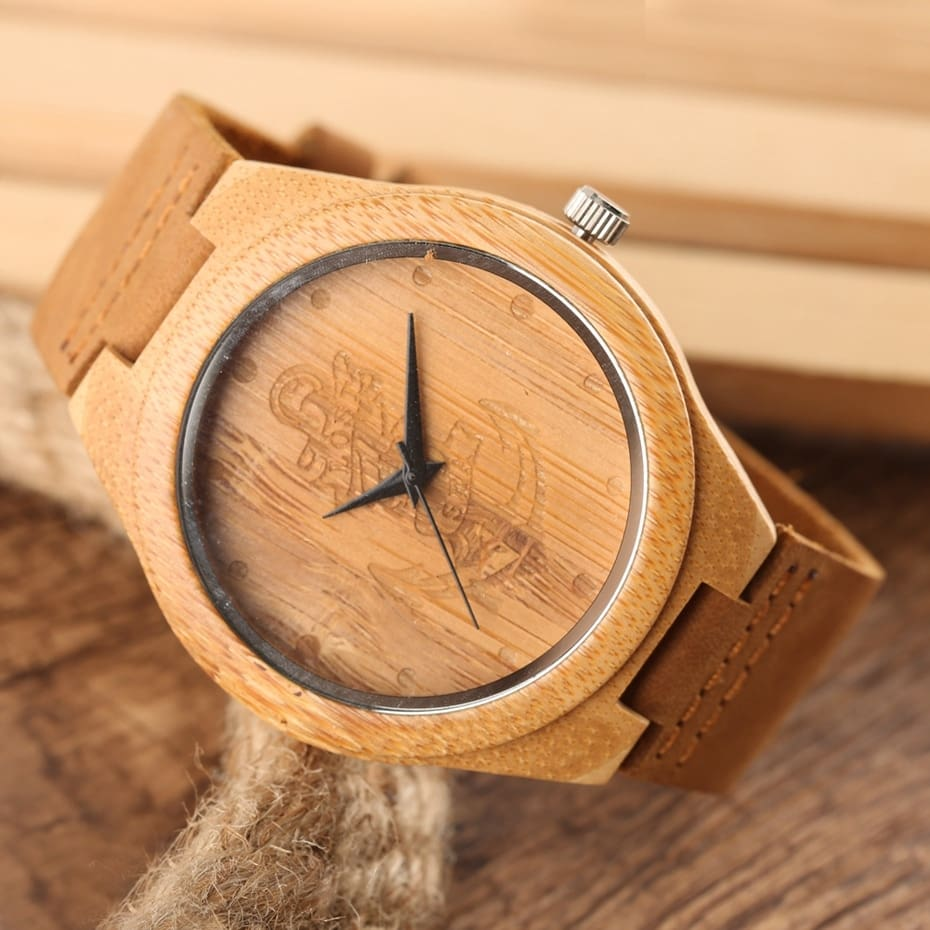Wooden Watches Male Bamboo Wood Watch For Men Women Engrave Scale Quartz Genuine Leather Clock Male Luxury Man Wood Wristwatch 2020 2019 (28)