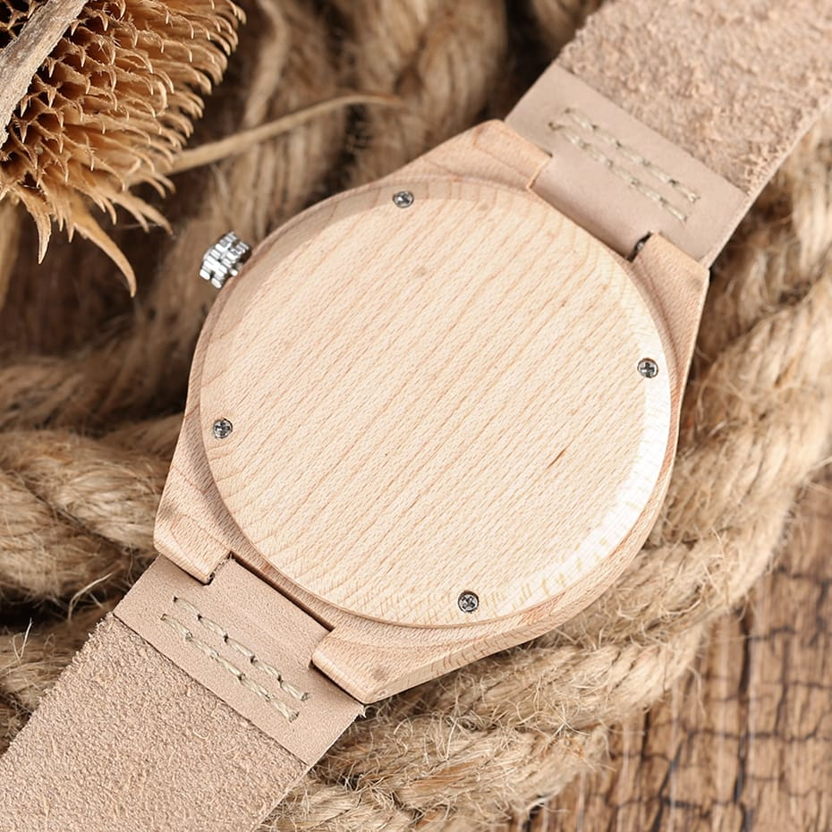 Marble Pattern Face Art Wooden Watch Minimalist Analog Style Natural Bamboo Clock Men and Women Quartz Sport Reloj de madera NEW 2017 (12)