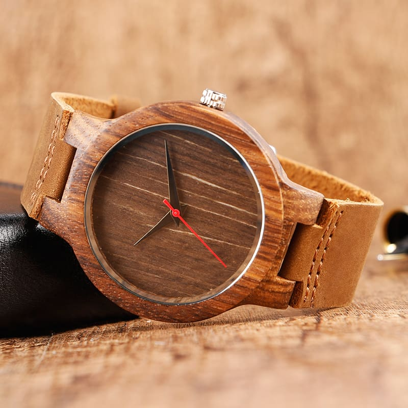 Top Gift BlackCoffeeGreen Dial Natural Bamboo Wood Watch Men Women Genuine Leather 2017 Wooden Clock Male hour Reloj de madera 2017 Christmas Gifts (21)