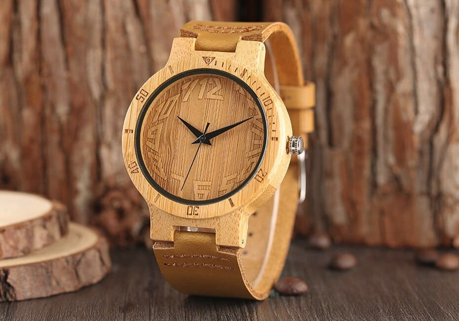 Top Minimalist Natural Bamboo Wood Watch Male Handmade Simple Mens Sports Quartz Wristwatch Arabic Numbers reloj de hombre 2018 (8)