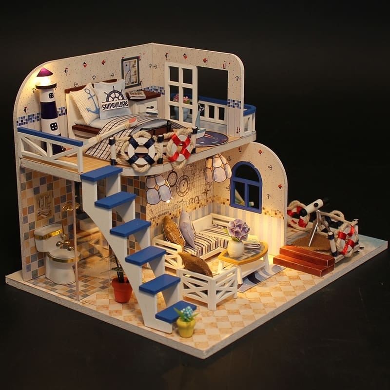 CUTEBEE-Doll-House-Furniture-Diy-Miniature-3D-Wooden-Miniaturas-Dollhouse-Toys-for-Christmas-Gift-M032