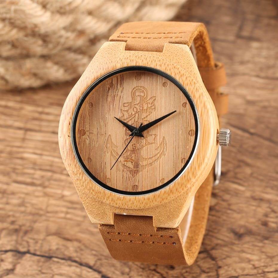 Wooden Watches Male Bamboo Wood Watch For Men Women Engrave Scale Quartz Genuine Leather Clock Male Luxury Man Wood Wristwatch 2020 2019 (27)