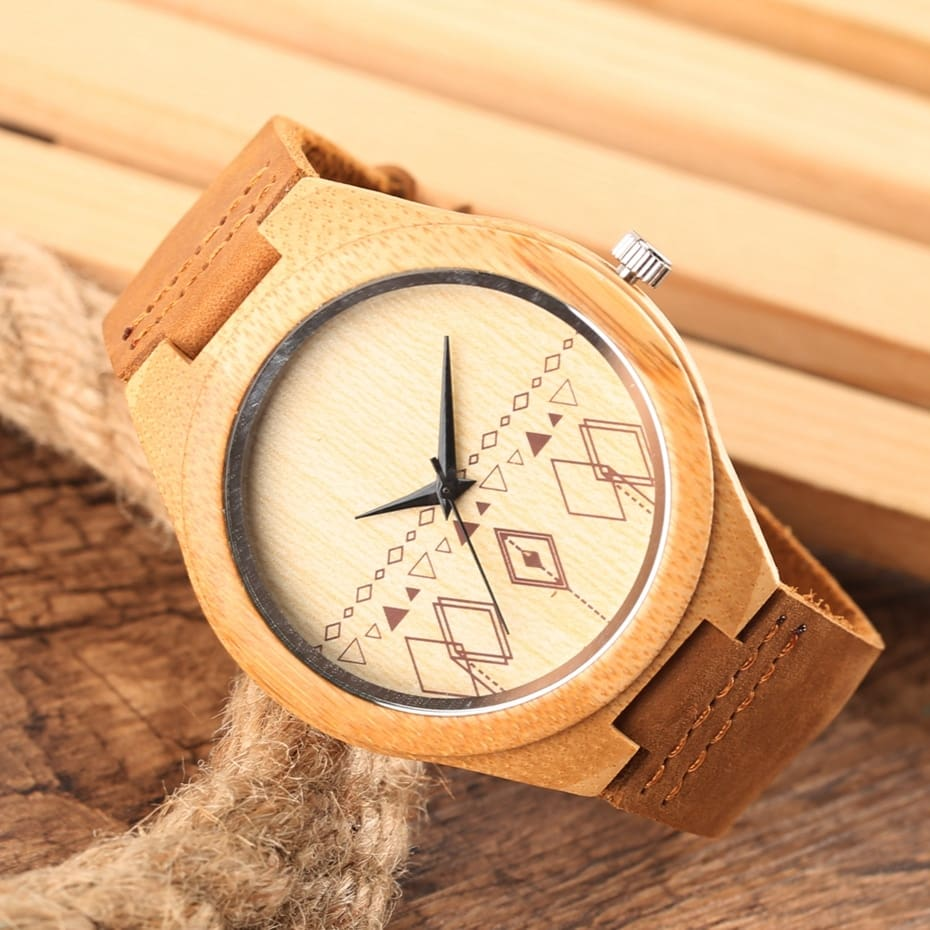 Wooden Watches Male Bamboo Wood Watch For Men Women Engrave Scale Quartz Genuine Leather Clock Male Luxury Man Wood Wristwatch 2020 2019 (18)