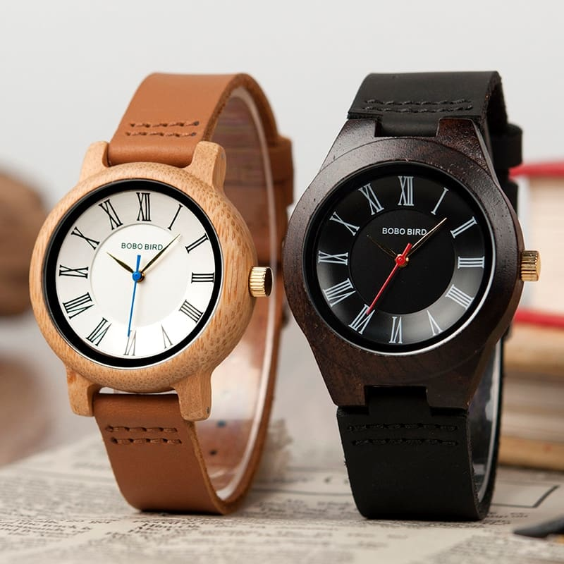 Classic Wooden Wristwatch Couples Quartz watches Women