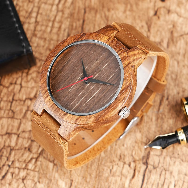 Top Gift BlackCoffeeGreen Dial Natural Bamboo Wood Watch Men Women Genuine Leather 2017 Wooden Clock Male hour Reloj de madera 2017 Christmas Gifts (20)