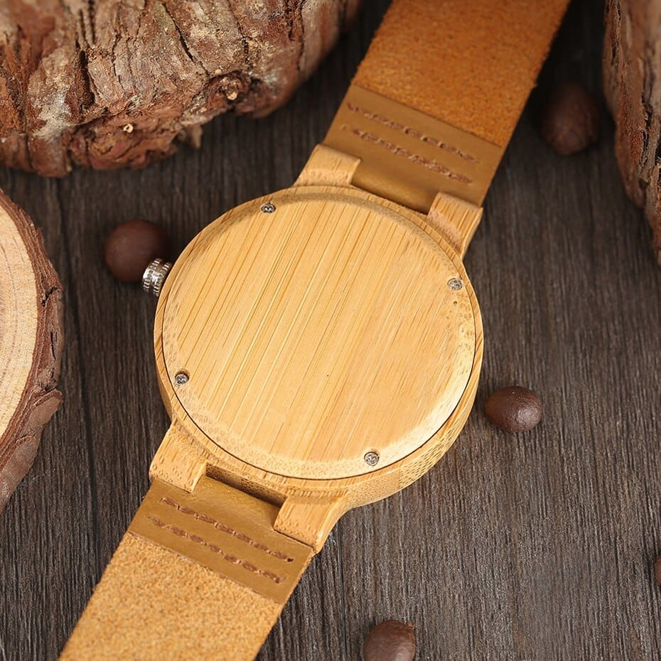 Top Minimalist Natural Bamboo Wood Watch Male Handmade Simple Mens Sports Quartz Wristwatch Arabic Numbers reloj de hombre 2018 (7)