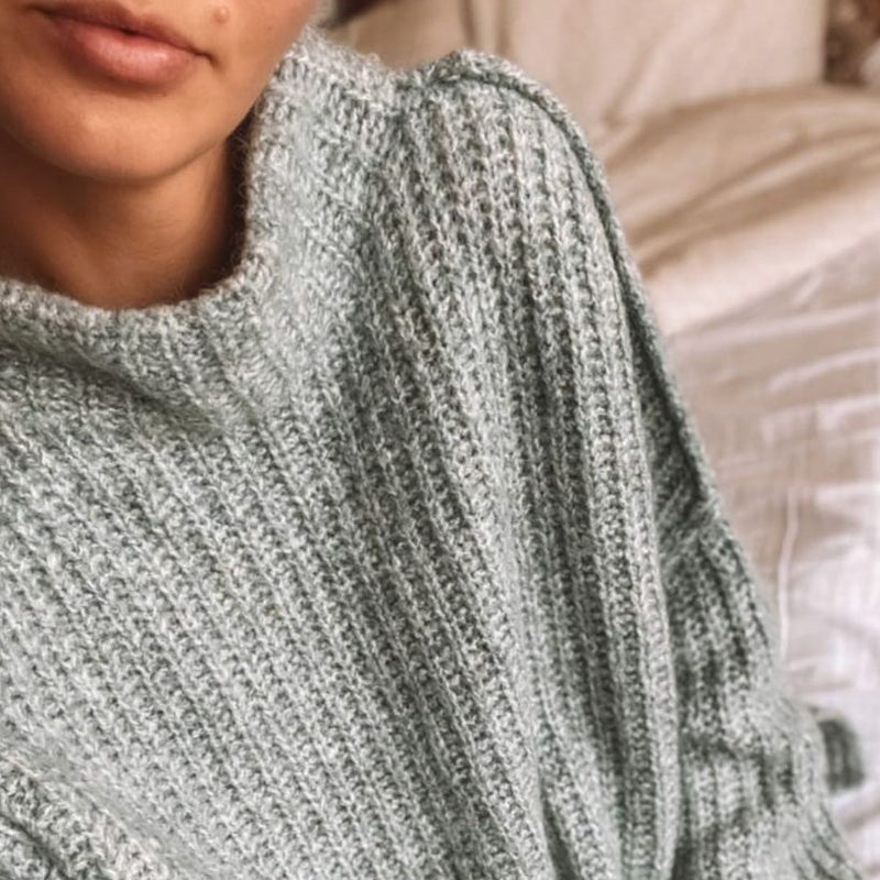 Brogan Kate wears the Cocoon Oversized Knit by POL Clothing
